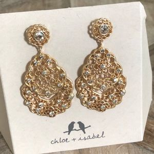 Beautiful Gold Drop Earrings